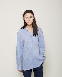La Garconne Moderne No. 8 Linen Shirt Medium Blue