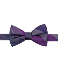 Ryan Seacrest Distinction Manchester Stripe Pre Tied Bow Tie Only At Macy's Purple