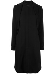 Y's 'O'long Layard' Coat Black