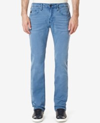 Buffalo David Bitton Men's Evan X Stretch Jeans Colorful And Bleached Fjord