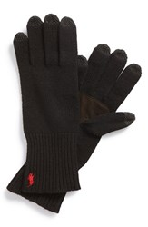 Men's Polo Ralph Lauren Merino Wool Tech Gloves Black Polo Black