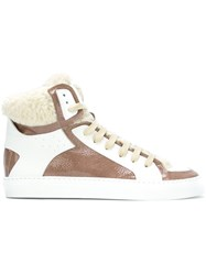 Maison Martin Margiela Mm6 Lace Up Hi Tops White