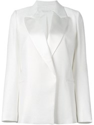 Victoria Beckham Single Breasted Blazer White