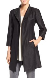 Eileen Fisher Women's Silk Blend High Collar Coat