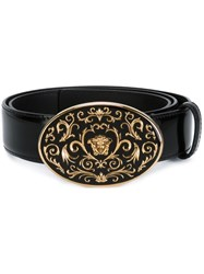 Versace Baroque Medusa Buckle Belt Black