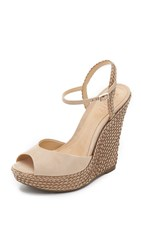 Schutz Mable Wedge Sandals Oyster