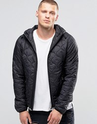 Blend Of America Hooded Quilted Jacket Camo Black Black
