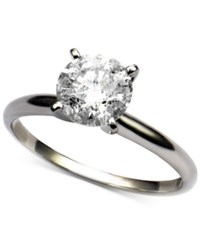 Macy's Diamond Round Solitaire Engagement Ring 1 2 Ct. T.W. In 14K White Gold