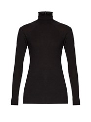 Haider Ackermann Fugazi Roll Neck Jersey Top Black