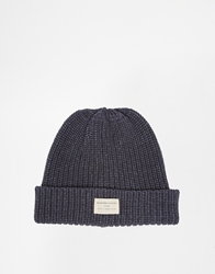 Selected Ground Beanie Hat Blue