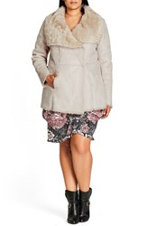 City Chic Plus Size Women's Faux Shearling Coat