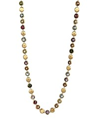Marco Bicego Jaipur 18K Hand Engraved Mixed Stone Necklace 30 Multi Gold