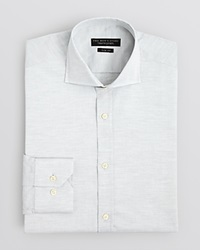 The Men's Store At Bloomingdale's Herringbone Solid Dress Shirt Slim Fit Bloomingdale's Exclusive Light Grey