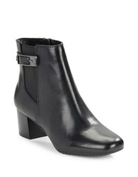 Bandolino Lethia Leather Ankle Boots Black