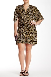 White Label By Rachel Pally Print Mini Kaftan Dress Plus Size Multi