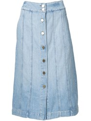 Frame Denim 'Le Panel' Denim Skirt Blue