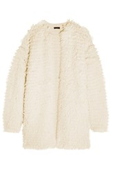 J.Crew Boucle Knit Coat Cream