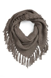 Hinge Women's Knit Scarf Grey Kitten