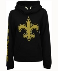 Junk Food Women's New Orleans Saints Logo Funnel Hoodie Black