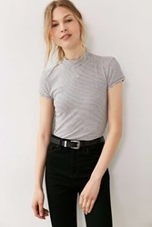 Truly Madly Deeply Maddie Mock Neck Tee Navy