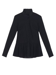Osman Maia Ruffle Collar Cotton Shirt