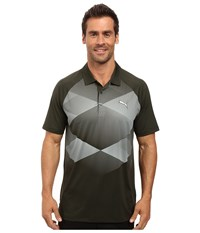 Puma Gt Argyle Polo Forest Night Men's Clothing Green