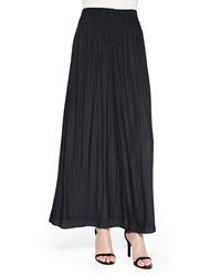 Ramy Brook Paris Pleated Voile Maxi Skirt