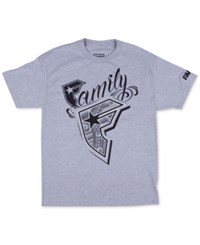 Famous Stars And Straps Men's Wildcat Graphic Print Logo T Shirt Heather Grey
