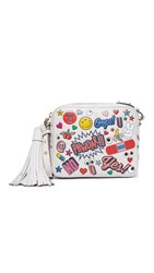 Anya Hindmarch Allover Wink Stickers Cross Body Bag Chalk