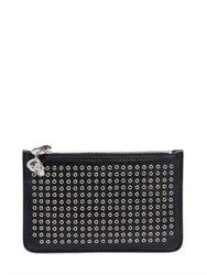 Alexander Mcqueen Mini Eyelets Leather Key Holder Pouch