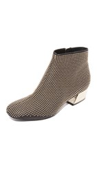 Alice Olivia Paxton Studded Booties Black Brushed Pale Gold