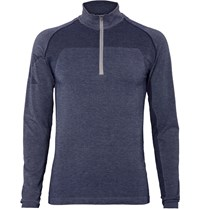 2Xu Movement Engineered Stretch Knit Base Layer Top Blue