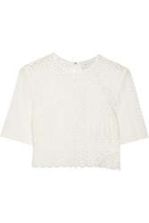 A.L.C. Fremont Crocheted Cotton Top White