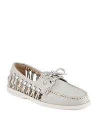 Sperry A O Haven Boat Shoes Light Grey