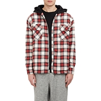 Fear Of God Hooded Flannel Jacket Red