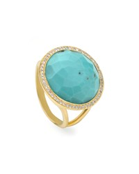 Ippolita Turquoise Lollipop Ring Mini Size 7 Gold