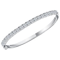 Jools By Jenny Brown Cubic Zirconia Bangle Silver