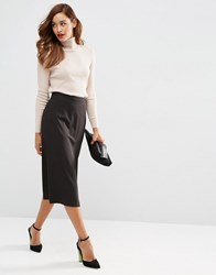 Asos Tailored Culotte With Wrap Front Black
