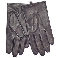 John Lewis Silk Lined Aniline Leather Gloves Black