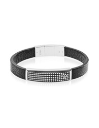 Emporio Armani Iconic Stainlees Steel And Rubber Men's Bracelet Black