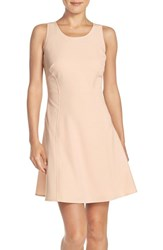 Women's Marc New York Scoop Neck Crepe Fit And Flare Dress