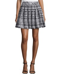 Alice Olivia Kayla Pleated Skirt Black White