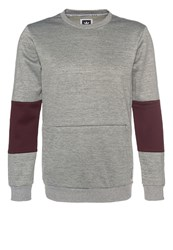 Adidas Originals Heavyweight Crew Sweatshirt Core Heather Maroon Grey