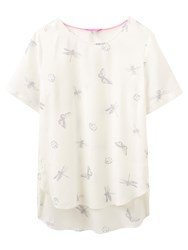 Joules May Insect Print Top Cream