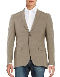 Tallia Orange Cotton Blend 2 Button Blazer Beige