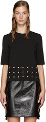 Versus Black Studded Cut Out T Shirt