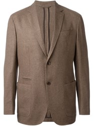 Ermenegildo Zegna Two Button Blazer Brown