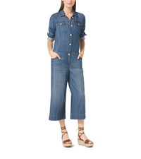 Michael Michael Kors Wide Leg Denim Jumpsuit