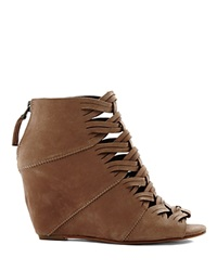 Dv Dolce Vita Wedge Open Toe Booties Sumner Taupe