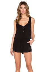 Velvet By Graham And Spencer Nolia Rayon Challis Romper Black